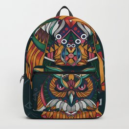 Wisdom Of The Owl King Backpack