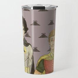 The Adventures of Hat-man and John the Boy Wonder Travel Mug