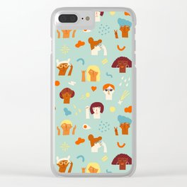 We are women Clear iPhone Case