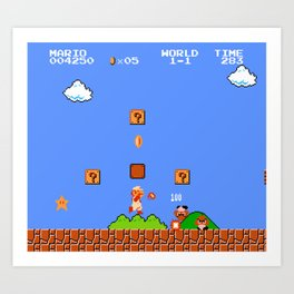 Super Mario Bros Art Print