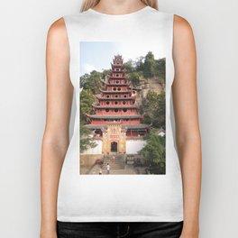 Shi Bao Zhai Buddhish temple Pagoda | Pagode Temple Buddhish Biker Tank