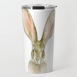 Jack Rabbit Watercolor Travel Mug