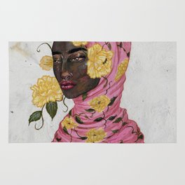 Floral Arrangements: Peony Rug