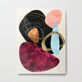 Abstract Pebbles II Metal Print