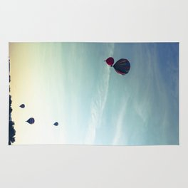 Floating Along - Hot Air Balloons  Rug