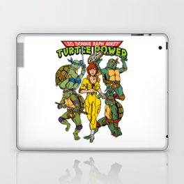 Classic Leo, Donnie, Raph, Mikey, and April O'Neil - Turtle Power! Laptop & iPad Skin
