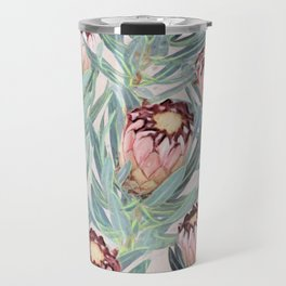 Pale Painted Protea Neriifolia Travel Mug