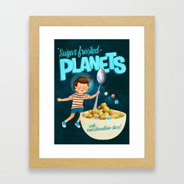 Sugar Frosted Planets Framed Art Print