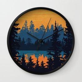 Algonquin Park Poster Wall Clock