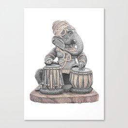 Tabla Ganesh Canvas Print