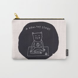 Relax Cat, A Healthy Start, Meditation Carry-All Pouch