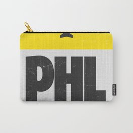 PHL Philadelphia airport code yellow Carry-All Pouch