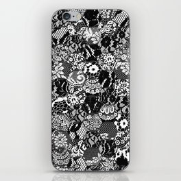 gothic lace iPhone Skin
