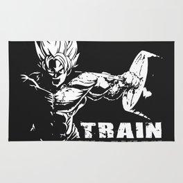 Goku train insaiyan Rug