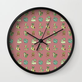 Grass Starters Pattern Wall Clock