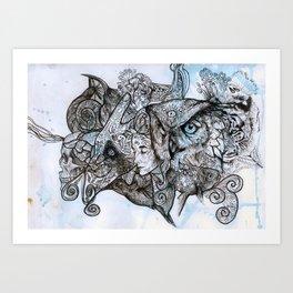Animal ramble Art Print