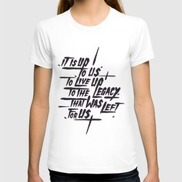 Legacy Typographic Design T-shirt