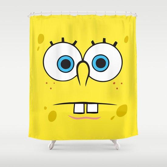 Spongebob surprised face shower curtain by cutecutecute society6 aloadofball Choice Image