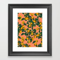 Lemon and Leaf Framed Art Print