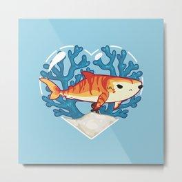 CHOMP the Tiger Shark Metal Print