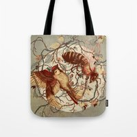 brain Tote Bags featuring Honey & Sorrow (grey) by Teagan White