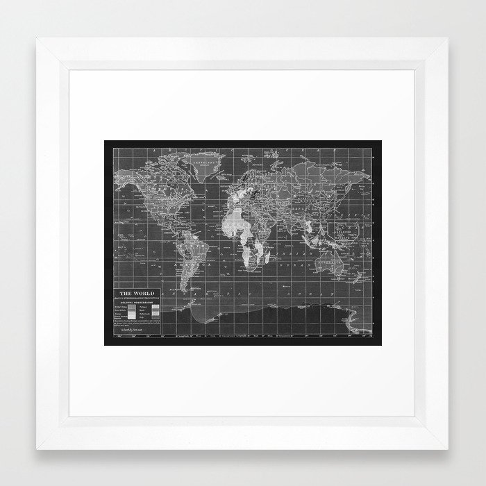 Black and white vintage world map framed art print by black and white vintage world map framed art print by catherineholcombe society6 gumiabroncs Image collections