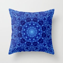 Ocean of Light Mandala Throw Pillow