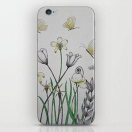 Doodle Summer Flowers iPhone Skin