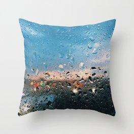 Evening Rainfall Throw Pillow