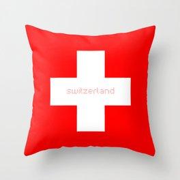 Switzerland Lovers Throw Pillow