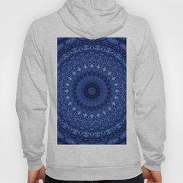 Mandala in deep blue tones Hoody