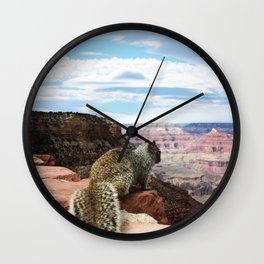 Squirrel Overlooking Grand Canyon Wall Clock