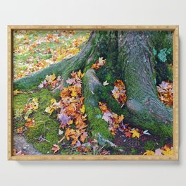 Roots And Leaves Serving Tray