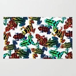 TOXIC FROGS PATTERN Rug