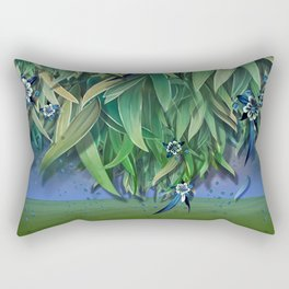 """""""Spring Forest of Surreal Leaf litter and flowers"""" Rectangular Pillow"""