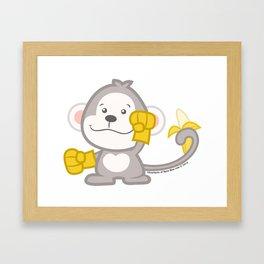 Junior Monkey Framed Art Print