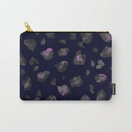 Pink and Black Leopard Carry-All Pouch