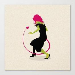 SCORPION LADY Canvas Print