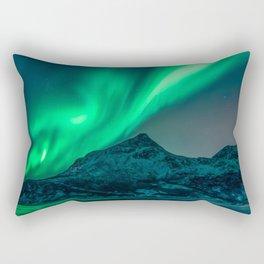 Aurora Borealis (Northern Lights) Rectangular Pillow