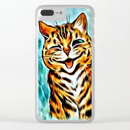 "Louis Wain's Cats ""Winking Cats"" Clear iPhone Case"