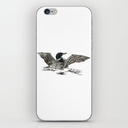 Morning Stretch - Common Loon iPhone Skin