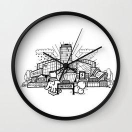 A cartoon view of Sheffield Wall Clock