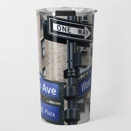 New York City Street Names Travel Mug