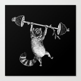 RaccoonBear Fitness Canvas Print