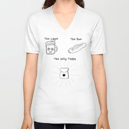 The Lager, The Bun & The Jolly Toast Unisex V-Neck