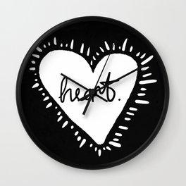 Heart. Wall Clock