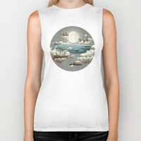 is the new black Biker Tanks featuring Ocean Meets Sky by Terry Fan