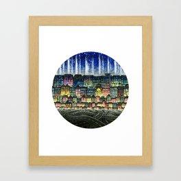 Crowded Haunts Framed Art Print