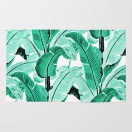 jungle leaf pattern mint Rug