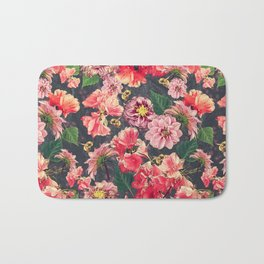 Vintage Flowers and Bees Bath Mat